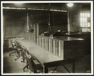 Interior view of an office, location unknown, 1937