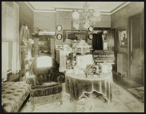 Interior view of a living room, location unknown, undated