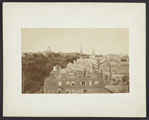 Panoramic view showing State House, Boston