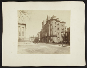 Exterior view of buildings on Beacon Street, Boston, Mass., undated