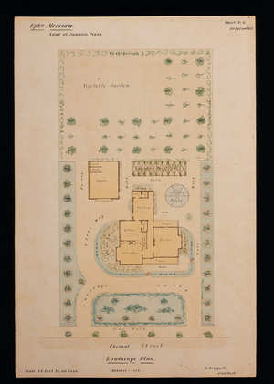Landscaping plan of the Ephraim Merriam House, Jamaica Plain, Boston, Mass., Oct. 1856
