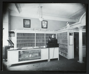 Interior view of Frank S. Horning Co. record store, 22 Boylston Street, Boston, Mass., Feb. 1920