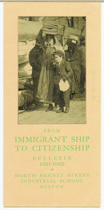 From immigrant ship to citizenship, bulletin 1921-1922, North Bennet Street Industrial School, Boston, Mass.