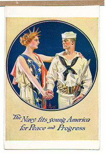 Recruiting postcard for the United States Navy, location unknown, undated