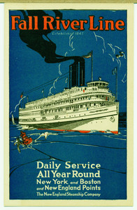 Postcard for the Fall River Line of the New England Steamship Company, undated