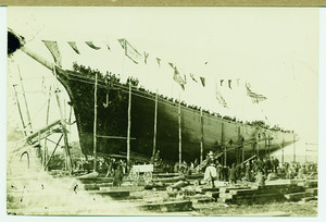 Shipyard view of the J.R. Teel, Newburyport, Mass., undated