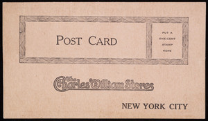 Postcard for The Charles William Stores, New York, New York, undated