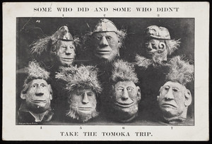 Some who did and some who didn't take the Tomoka trip, postcard, location unknown, undated