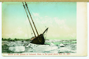 Wreck of the Juniata at Cohasset, Mass. in the great storm of Nov. 27, 1897