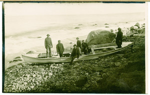 Wreck of the City of Columbus whale boat, Gay Head, Martha's Vineyard, Mass., 1880s
