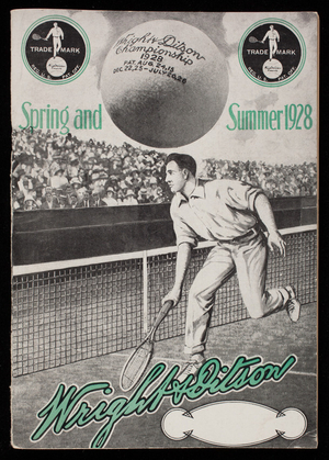 Wright & Ditson, spring and summer 1928, athletic and sporting goods, 344 Washington Street, Boston, Mass.