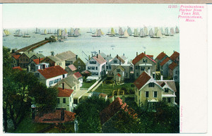 Provincetown Harbor from Town Hill, Provincetown, Massachusetts