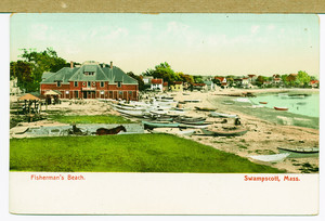 Fisherman's Beach with boats and horse buggy, Swampscott, Mass., undated