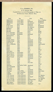 Partial list of our 8/10 photographs of ships, etc., N.L. Stebbins, Inc, 184 Boylston Street, Boston, Mass., undated