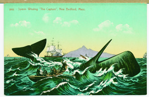 """Sperm whaling, """"the capture,"""" New Bedford, Mass."""