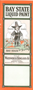 Sample card for Bay State Liquid Paint, manufactured by Wadsworth Howland & Co, Boston, Mass., undated
