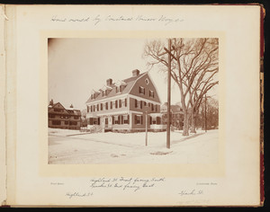 Album 31: James Atkins Noyes Residence, 71 Sparks Street, Cambridge, Mass