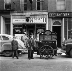 Organ grinder, Boston, 1955