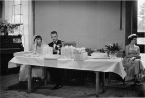 Country wedding, South Woodbury, Vermont, 1957