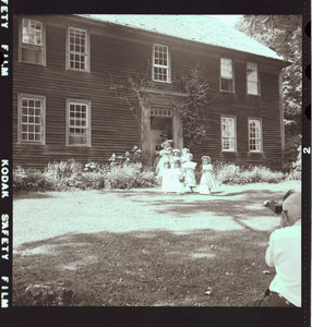 The procession leaves the house, Webster, N.H., 1955