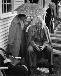 Keeping dry, Albany, Vermont, 1951