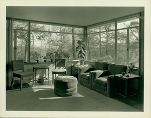 Interior view of the Henry E. Wiley House, living room, Weston, Mass.