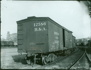 Boston & Albany railroad car No. 12586, location unknown, undated