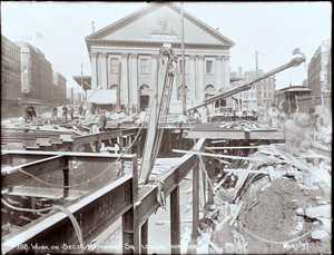 Work on Sec. 10 Haymarket Square looking northerly, Boston, Mass., March 11, 1897