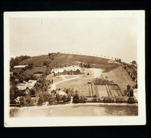 Aerial view of Riegel Point, Fairfield, Conn., undated