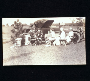 Staff outing for Labor Day at Riegel Point, Fairfield, Conn., 1917