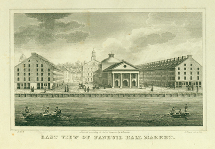 East view of Faneuil Hall Market, Boston