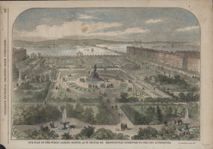 """""""Our Plan of the Public Garden, Boston, As It Should Be. Respectfully Submitted to the City by the Authorities."""""""