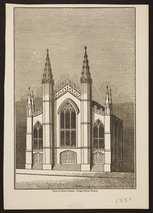 View of Grace Church, Temple Street, Boston