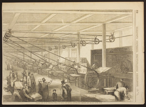 Interior view of our press-room, where are printed the Pictorial Drawing-Room Companion, and the Flag of Our Union
