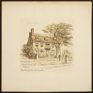 Old Hancock House, Beacon Street, Boston