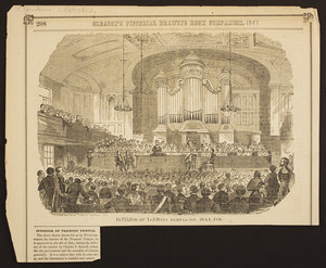 Interior of Tremont Temple on July 4th