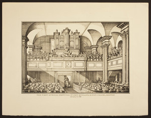 The first musical festival in New England, King's Chapel, Boston, January 10, 1786
