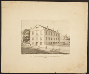 View of Mr. G.F. Thayer's Private School, Chauncy Place--Boston