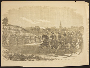 Annual May Review of the First Regiment of Massachusetts Militia by Governor Boutwell and his Staff, on Boston Common