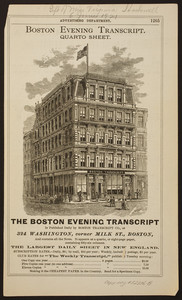 Boston Evening Transcript Quarto Sheet