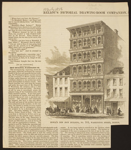 Fowle's new iron building, no. 164 Washington Street, Boston