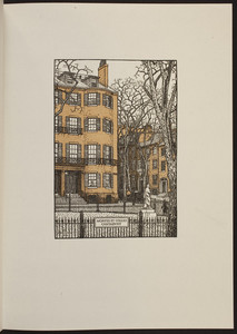 Corner of Louisburg Square, Beacon Hill, Boston