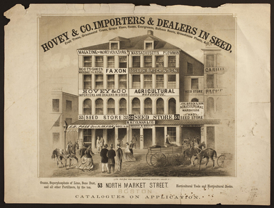 Hovey and Co., importers and dealers in seed, 53 North Market Street, Boston, Mass., 1850s