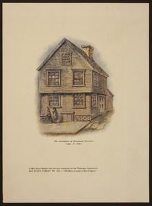The birthplace of Benjamin Franklin (Jan. 17, 1706)