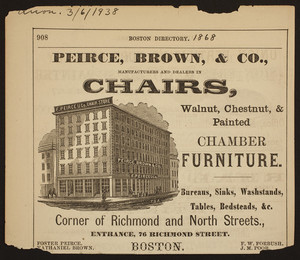 Peirce, Brown, & Co., manufacturers and dealers in chairs