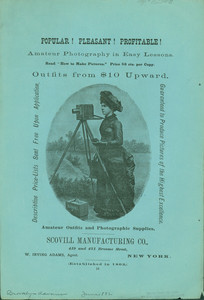 Handbill for amateur photography in easy lessons, Scovill Manufacturing Company, 419 and 421 Broome Street, New York, June 1882