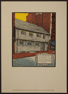 Paul Revere House, North Square, Boston, Mass., undated