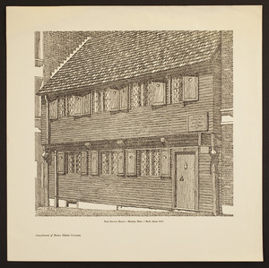 Paul Revere House, Boston, Mass., built about 1676