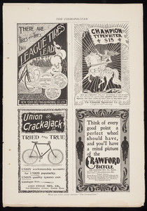 Advertisements for bicycles, multiple locations, March 1896