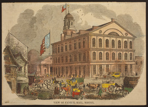 View of Faneuil Hall, Boston
